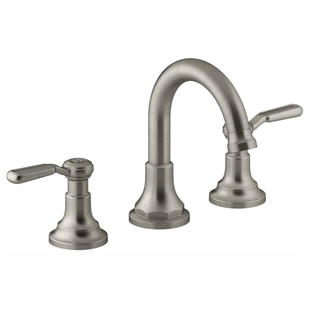 Primary image for Worth 8 in. Widespread 2-Handle Bathroom Faucet in Vibrant Brushed Nickel