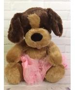 Build A Bear Brown Caramel Puppy Dog Stuffed Animal Plush Toy Doll With ... - $18.21