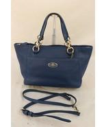 Coach Blue Leather MINI ELLIS Convertible Tote 35030 - $115.00