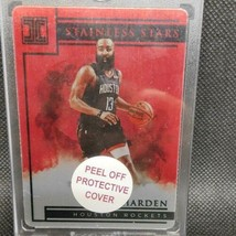 NBA card JAMES HARDEN Basketball 2019-20 PANINI IMPECCABLESTAINLESS STAR... - $442.53