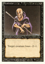 Magic: The Gathering 3rd Edition - Weakness - $0.25