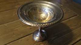 Great Rogers Sterling Silver Weighted Compote Bowl Candy Dish 211.60 Grams - $77.21
