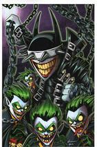 Chris Uminga SIGNED DC Comic Art Print ~ Joker Batman Who Laughs - $39.59
