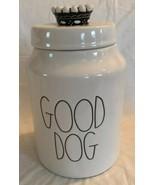 Rae Dunn Crown Good Dog Treat Dog Food Canister Ivory LL NEW Artisan Col... - $29.60