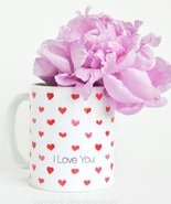 Ceramic coffee mug hearts senay studios thumbtall