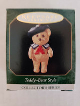 "1999 Hallmark Keepsake Miniatures ""Teddy Bear Style"" Ornament  3rd in Se... - $5.77"