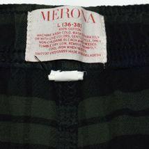 Merona Blue Green Plaid Pajama Lounge Sleepwear PJ Pants Men's Size L 36-38 image 4