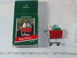 Hallmark Keepsake Ornament Hoppy Holidays Handcrafted ornament 1989 Pre-Ownd - $16.02