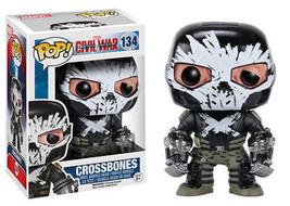 Funko Pop Marvel Crossbones Captain America Civil War Figure #134 - $11.90