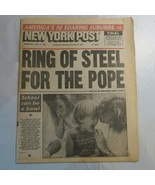 New York Post September 9 1987 Ring of Steel for the Pope Shots for Scho... - $39.99