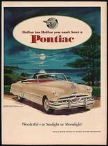Vintage magazine ad PONTIAC automobiles 1951 Sunlight or Moonlight convertible - $12.99