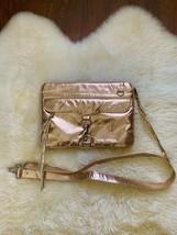 "Rebecca Minkoff Rose Gold Metallic 13"" Laptop Crossbody Bag - $69.00"