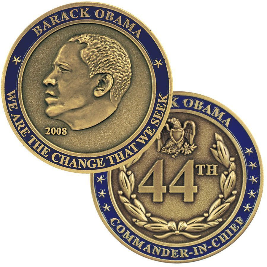 """44TH PRESIDENT BARACK OBAMA WE ARE THE CHANGE WE SEEK 1.75"""" CHALLENGE COIN"""