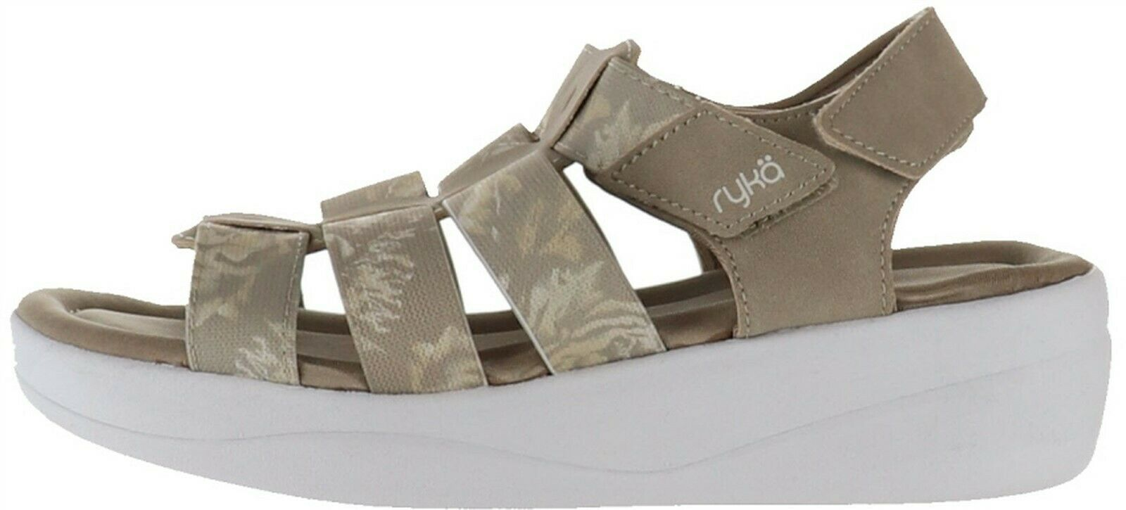 Primary image for Ryka Multi-Strap Adjustable Wedge Sandals Aloha Taupe 9M NEW A351783