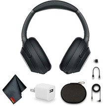 Sony WH-1000XM3 Wireless Noise-Canceling Over-Ear Headphones (Black) Bundle with - $242.55