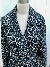 Merona Womens XXL Animal Print Short Length Trench Coat 100% Cotton - $68.31
