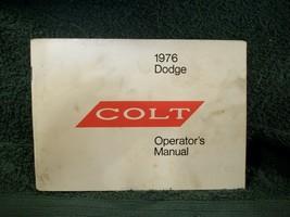 Dodge Colt Mitsubishi - 1976 Owners Manual 16414 - Used Lot 923 - $11.63