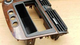 01-05 Acura EL Honda Civic Radio Bezel AC Climate Control Dash Vents WoodGrain image 5