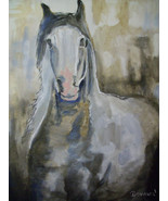 "Original 8x10"" Horse Canvas Wall Art :- R Doward Fine Art - $16.83"