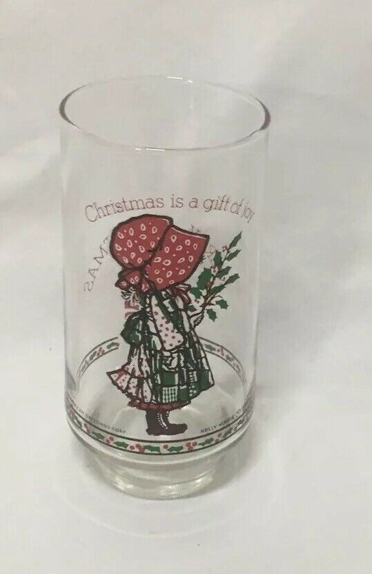 Primary image for Vintage Holly Hobbie Christmas Tumbler Coca Cola Limited Edition