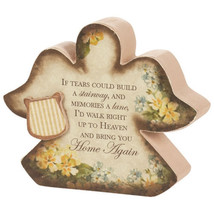 Memorial Angel Mini Message Block If Tears Could Build Stairway Sign - $9.49