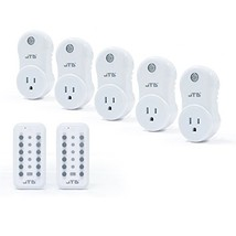 JTD 5 Pack Remote Control Outlet Switch 2nd (5Plug-2Remote Second Gen) - $43.13