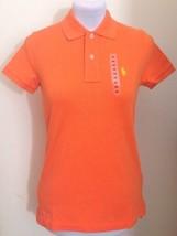 Ralph Lauren Orange Skinny Polo Shirt Womens Size Extra Small - XS - $57.78