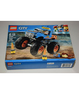 LEGO City Monster Truck #60180 192 Pieces Building Toy Kit 6-12 years Ne... - $37.99