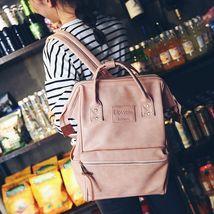 Fashion Multifunction Women Backpack Shoulder Bag Laptop School Faux Lea... - $31.99