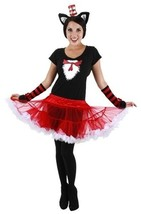 Dr. Seuss Cat In The Hat Costume Fuzzy Glovettes, LICENSED Adult NEW UNWORN - $11.89