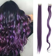 Long Natural Hair Clip In Rainbow Hair Extensions image 11