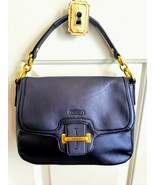 Coach Taylor Flap Pearlized Navy Blue Leather Bag Purse G1320-F25206 - $79.99