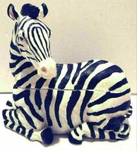 Bradford Ceramic 2-Piece Zebra Table Piece Dish Decoration - $40.00