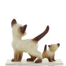 Hagen Renaker Miniature Cat Siamese Papa and Kitten Walking Ceramic Figurines image 6