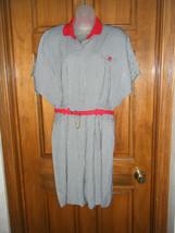 Vintage Rampage Black & White Check w/Red Trim & Belt Skort Dress - Size 11 - $14.84