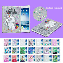 for iPad 9.7 2018 Air 1st 2 Bling Sparkle Clear Flowing Liquid Case & PC... - $18.99