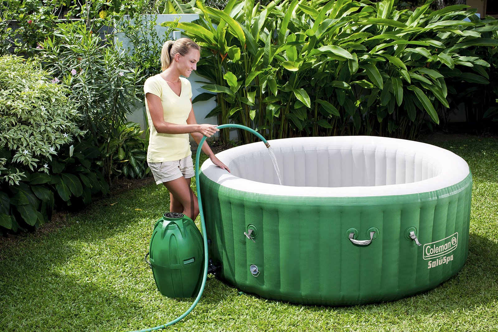 Inflatable Hot Tub Spa Heated Water Jet Pump and 50 similar items
