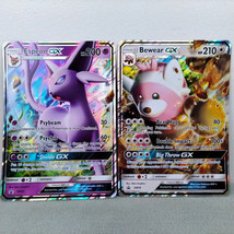 Lot of Two Pokemon Jumbo Trading Cards Espeon GX SM35 & Bewear GX SM34 VG+  - $12.00