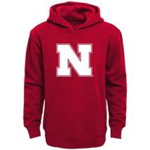 Large 14-16 Boy's NCAA Nebraska Cornhuskers Logo Hoodie Hooded Sweatshirt NEW