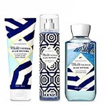 Bath & Body Works Mediterranean Blue Waters Mist, Cream & Shower Gel Set - $24.50