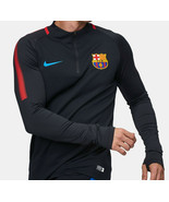 NIKE FC BARCELONA DRY SQUAD DRILL TOP 2017/18 Black Size XL - $69.29