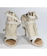 Thakoon White Vero Cuoio Stilettos High Heels Open Toe Ankle Strap 39.5 - $98.44