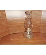 Anchor Hocking  Wexford:  Round Base Oil (kerosene) Lamp w/Chimney - $19.79