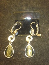 Lia Sophia Dangle Earrings with Black Stones and Crystals New - $14.99