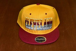 CLEVELAND BASKETBALL Baseball CAP HAT  Breathable RED Bill W/Yellow - £4.44 GBP
