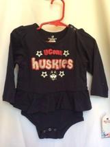 UConn Huskies Colosseum Infant Baby Girl Dress Glitter 6-12 Months New - $22.56