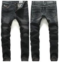 New Winter Men's Slim Fit Small Straight Black Jeans - $32.64