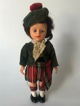 "Vintage Scottish Doll Celluloid Blue Eyes 6"" Clothes  - $10.00"