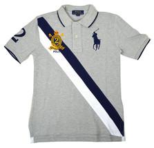 Polo Ralph Lauren Boys Kids ClassicFit Big Pony BannerStripe,L(14-18)Gre... - $40.38