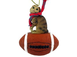 Brown Tabby Scottish Fold Football Ornament - $17.99